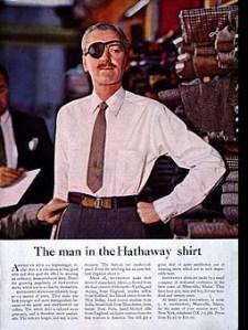 hathaway shirt ad